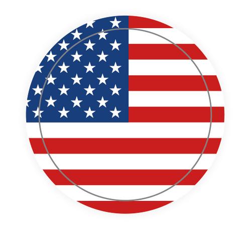 American Flag Circle - Hard Hat Sticker