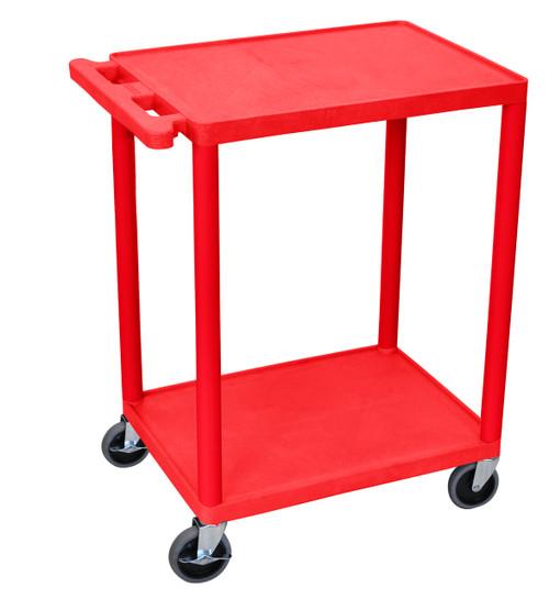 Luxor 2 Shelf Utility Cart Red