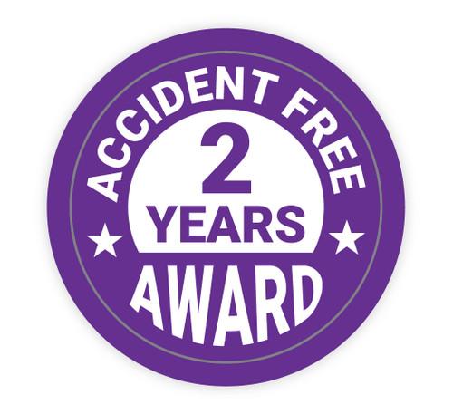 Accident Free Award 2 Years - Hard Hat Sticker
