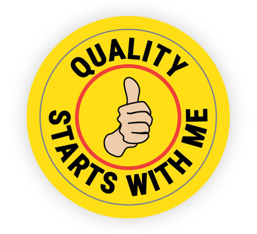 Quality Starts With Me - Hard Hat Sticker