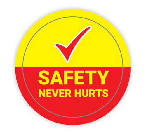 Safety Never Hurts Check Mark - Hard Hat Sticker