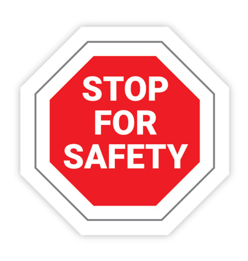 Stop For Safety - Hard Hat Sticker