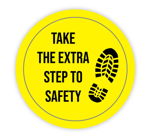 Take the Extra Step to Safety - Hard Hat Sticker