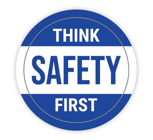 Think Safety First - Hard Hat Sticker