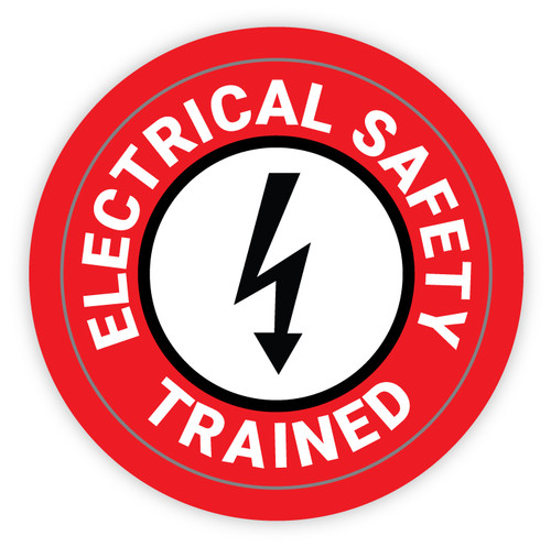 Electrical Safety Trained - Hard Hat Sticker