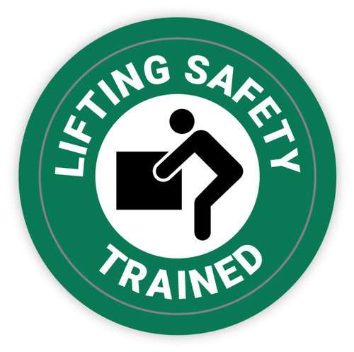 Lifting Safety Trained - Hard Hat Sticker