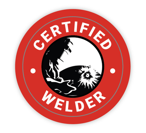 Certified Welder - Hard Hat Sticker