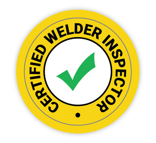 Certified Welder Inspector - Hard Hat Sticker