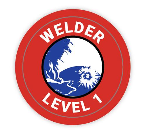 Welder Level 1 - Hard Hat Sticker