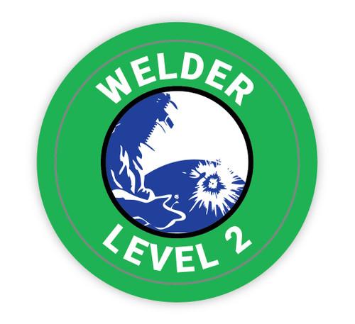 Welder Level 2 - Hard Hat Sticker