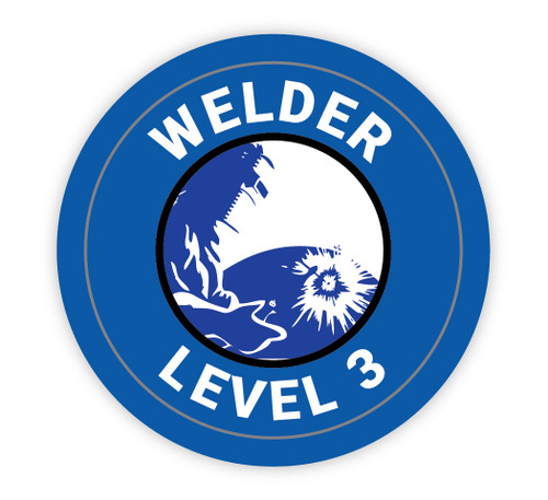Welder Level 3 - Hard Hat Sticker
