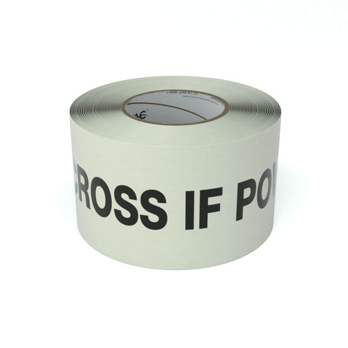 SafetyTac® Glow Do Not Cross If Power is Out - Inline Printed Floor Marking Tape