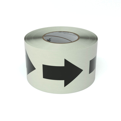 SafetyTac® Glow Egress Symbol With Arrow - Inline Printed Floor Marking Tape