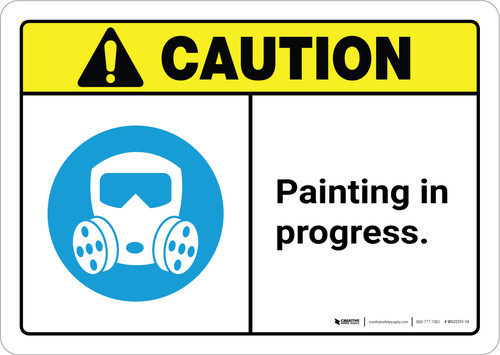 Caution: Painting In Progress ANSI Landscape