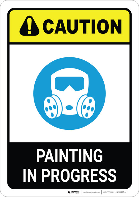 Caution: Painting In Progress with Icon ANSI Portrait