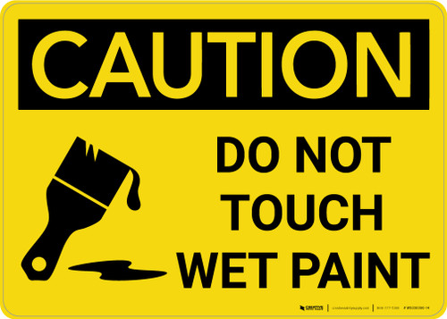 Caution: Do Not Touch Wet Paint with Icon Landscape