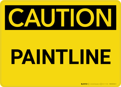 Caution: Paintline Landscape