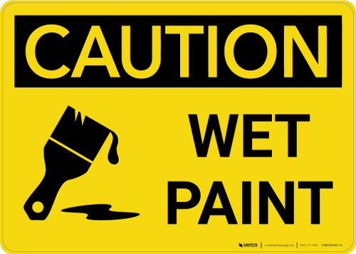 Caution: Wet Paint with Icon Landscape