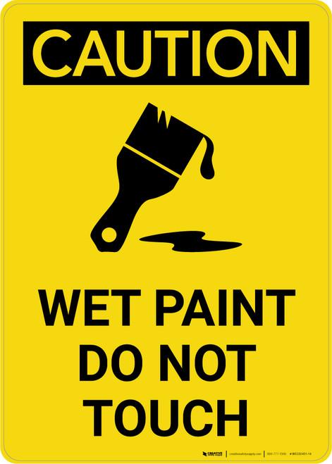 Caution: Wet Paint Do Not Touch Icon Portrait