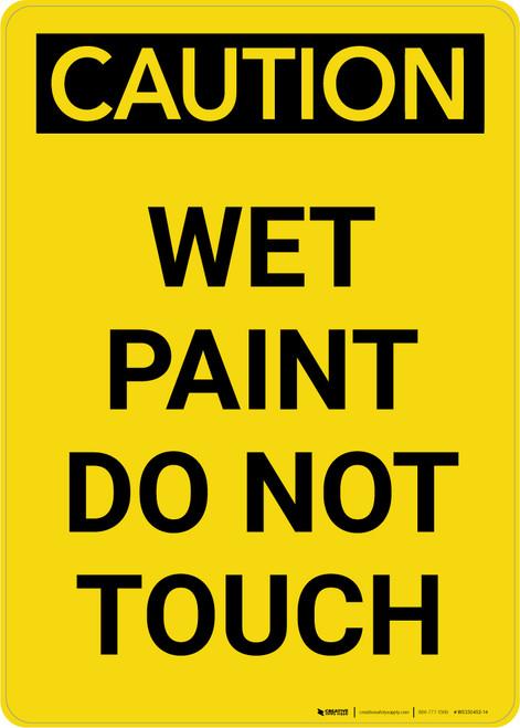 Caution: Wet Paint Do Not Touch Portrait