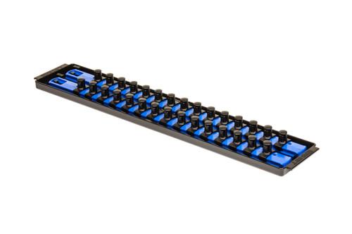 """2 Rail Twist Lock Socket Boss 18"""", Blue - 1/2"""""""