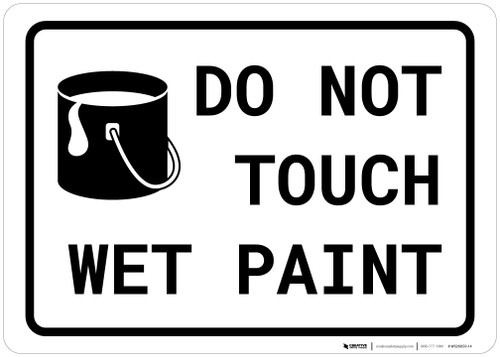 Do Not Touch Wet Paint with Icon Landscape