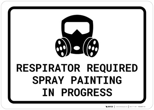 Respirator Required - Spray Painting in Progress with Icon Landscape