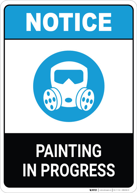 Notice: Painting in Progress ANSI Portrait
