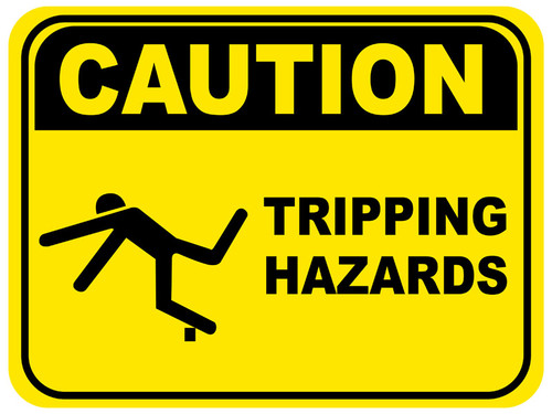 Tripping Hazard Floor Sign