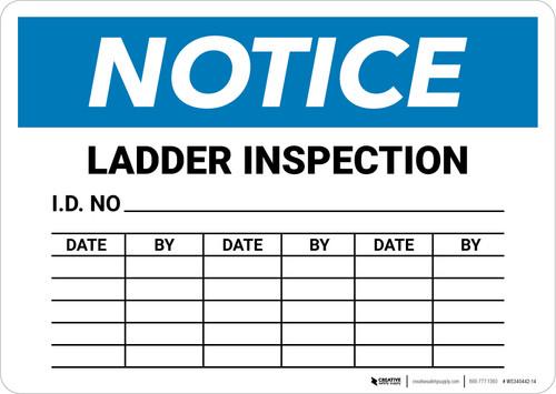 Notice: Ladder Inspection Chart Landscape