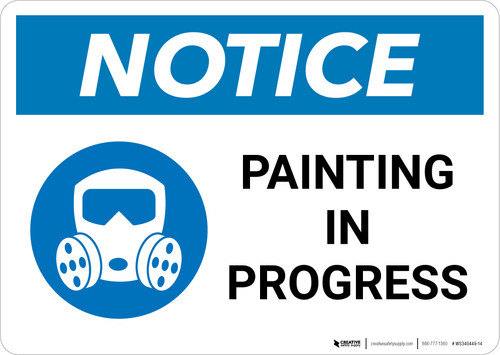 Notice: Painting In Progress with Icon Landscape