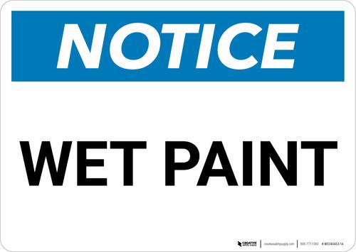 Notice: Wet Paint Landscape