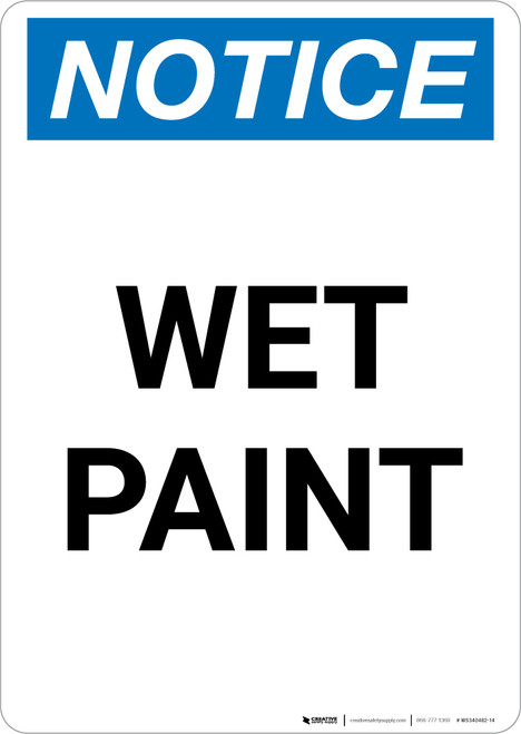 Notice: Wet Paint Portrait