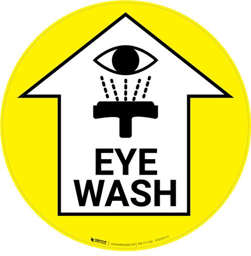 Eye Wash with Arrow Icon - Floor Sign