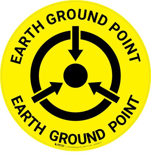 Earth Ground Point - Floor Sign