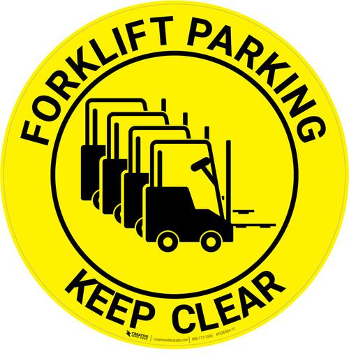 Forklift Parking - Keep Clear - Floor Sign