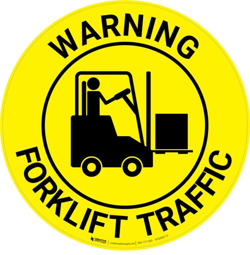 Warning: Forklift Traffic - Floor Sign