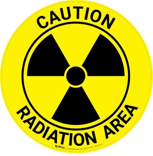 Caution Radiation Area - Floor Sign