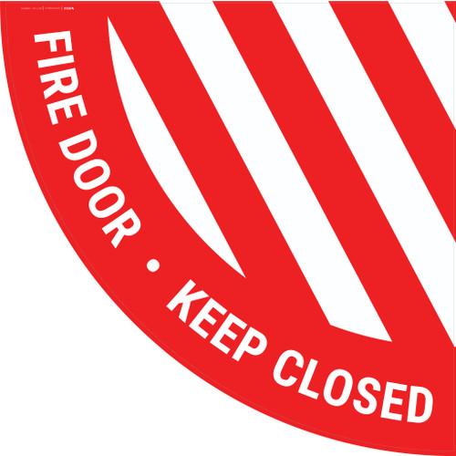 Fire Door Keep Closed - Half Swing Sign