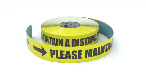 Please Maintain a Distance of 6ft Horizontal - Inline Printed Floor Marking Tape