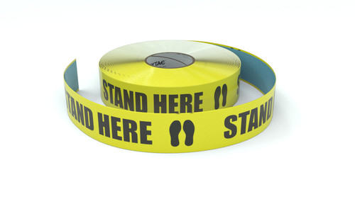 Stand Here with Feet Icon - Inline Printed Floor Marking Tape