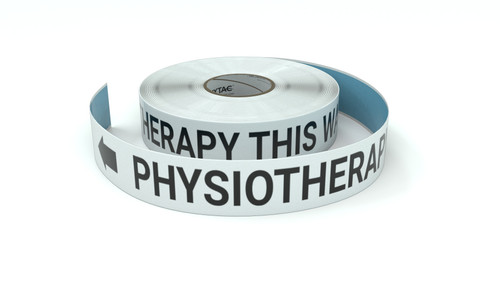 Physiotherapy This Way With Left Arrow - Inline Printed Floor Marking Tape