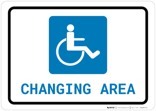 ADA Accessible Changing Area with Icon Landscape - Wall Sign