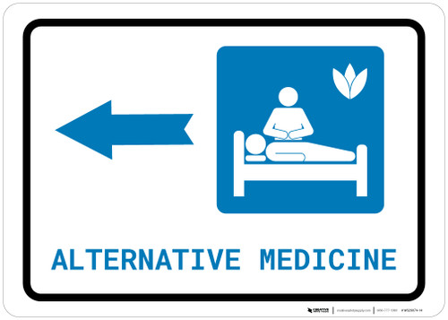 Alternative Medicine Left Arrow with Icon Landscape - Wall Sign