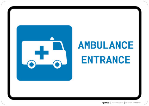 Ambulance Entrance with Icon Landscape - Wall Sign