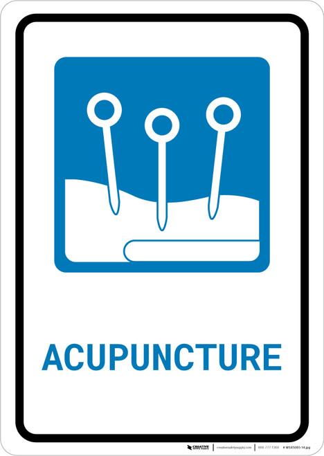 Acupuncture with Icon Portrait - Wall Sign
