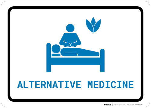Alternative Medicine with Icon Landscape v2 - Wall Sign