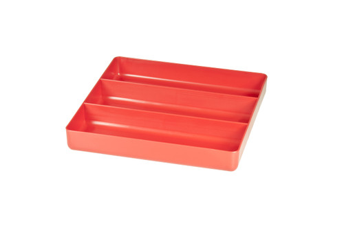 """10.5 x 10.5"""" 3 compartment Organizer Tray - Red"""