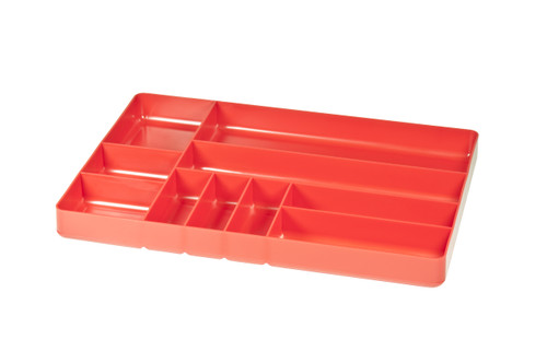 """11 x 16"""" 10 compartment Organizer Tray - Red"""