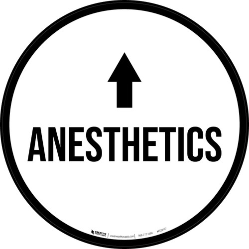 Anesthetics Arrow Straight Circular - Floor Sign